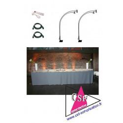Location pack décoration 07 - Eclairage de vos tables, buffets, cadres photos expo, etc.
