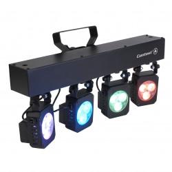 Location rampe de 4 projecteurs changeur de couleur TRI4U CONTEST