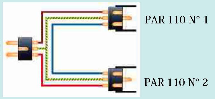 Schéma câblage PAR 110V