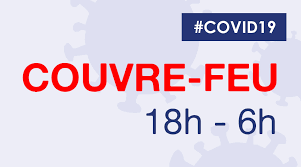 Image couvre feux 18H00 - COVID19